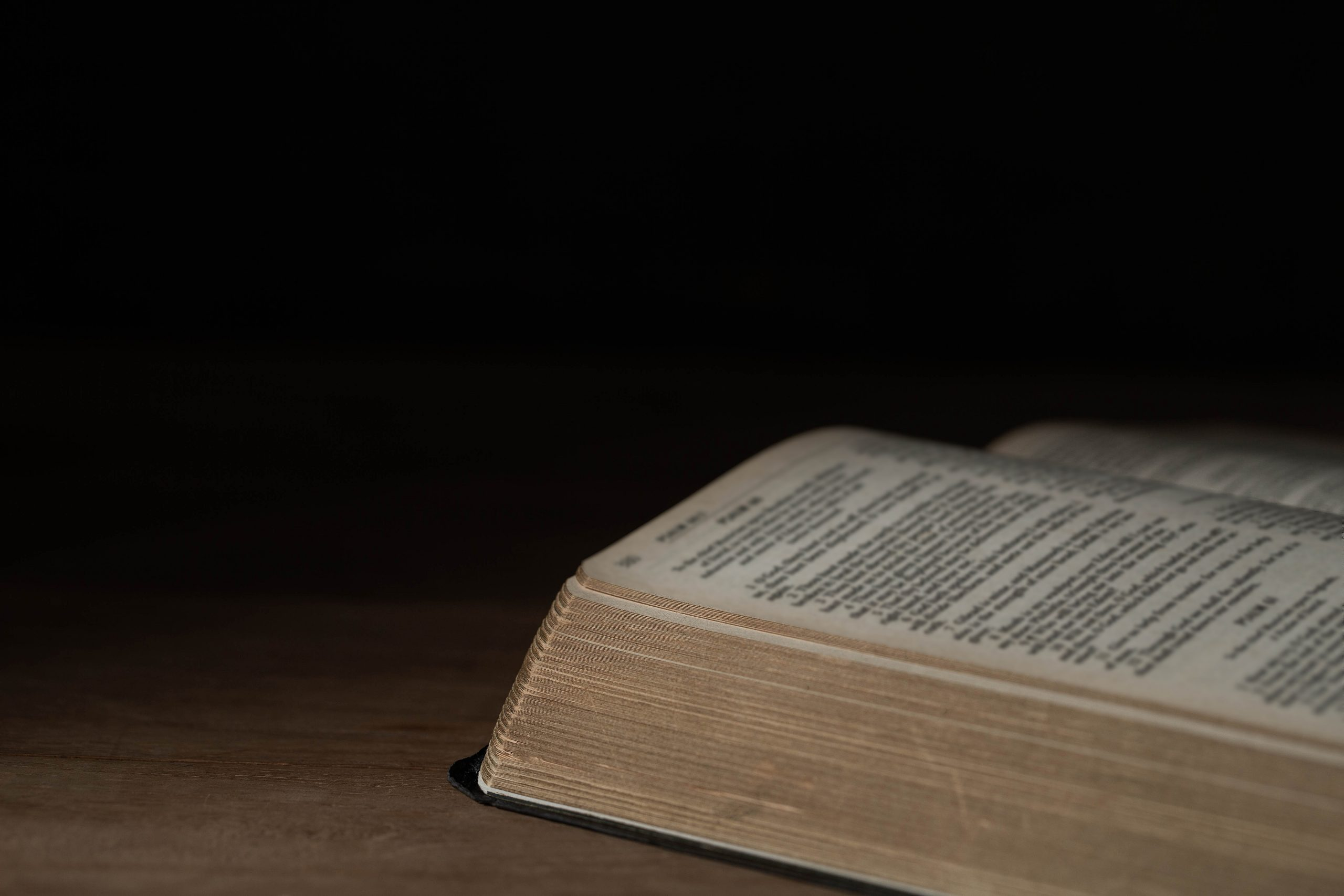 Zion Illinois Lakeview Church Bible on wooden background