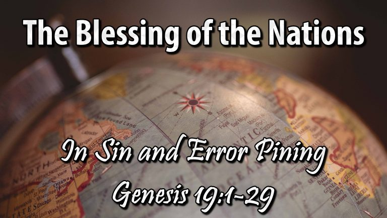 In Sin and Error Pining